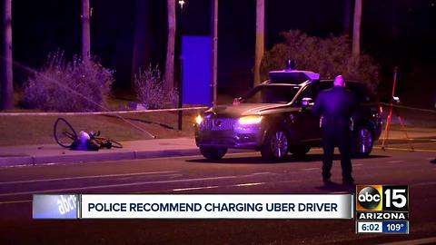 New report shows police recommend charging backup driver in deadly self-driving Uber crash