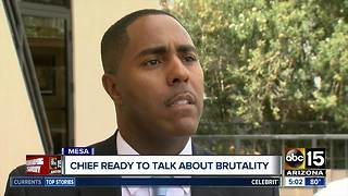 Mesa Police Chief holding press conference over use of force concerns - Video