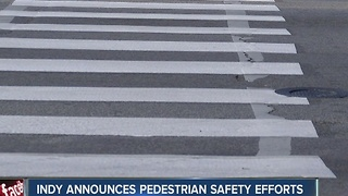 Indy announces pedestrian safety reports - Video