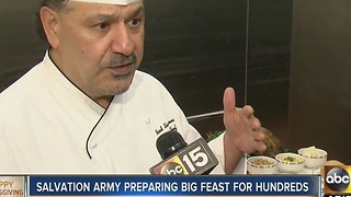 Salvation Army preparing for big Thanksgiving feast - Video