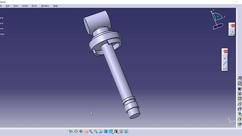 CATIA V5 Free Advance Course How to Design a Shock absorber |Commands| Shaft, sketch, cylinder