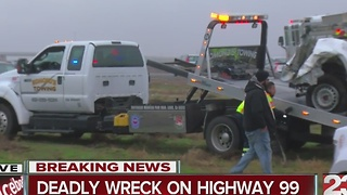 Deadly wreck on Highway 99 - Video