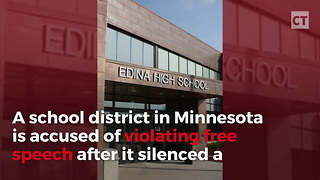 High School Conservatives Sue Administration - Video