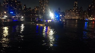 Police Search East River for Downed Helicopter - Video
