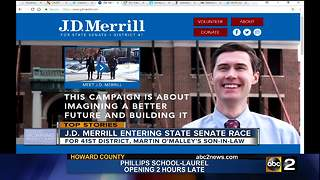 Martin O'Malley's son-in-law entering state senate race - Video
