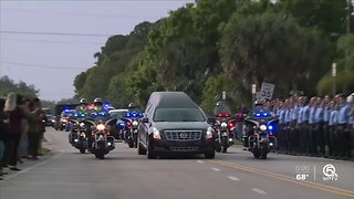 Fallen FHP Trooper Joseph Bullock escorted to Sarasota on Friday