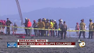 Three killed in Encinitas bluff collapse