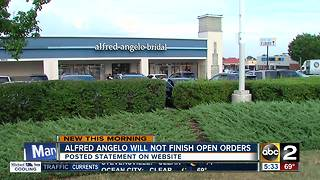 Alfred Angelo won't fulfill open orders - Video