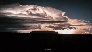 Timelapse Captures Lightning at Uluru - Video