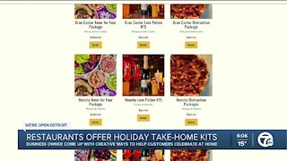 Restaurants offer holiday take-home kits