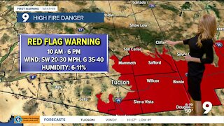Critical fire weather and cooler air