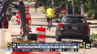 Potomac Street bike lanes get a new plan from the city - Video
