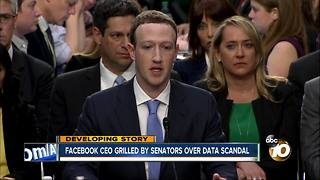 Facebook CEO grilled by senators over data scandal