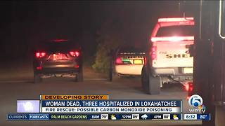 1 dead, 3 hurt in carbon monoxide poisoning - Video