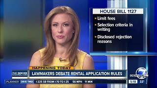 Lawmakers debate rental application rules - Video