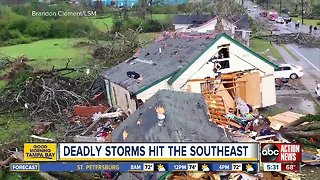 At least 23 people killed in Southeast U.S. tornadoes