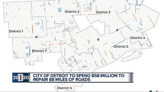 Resurfacing of nearly 90 miles of rough roads begins in Detroit - Video