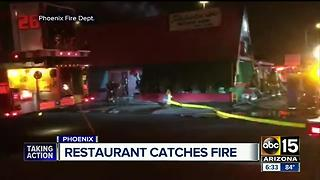 Firefighters knock down fire at Phoenix Julioberto's - Video