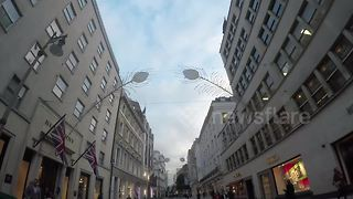 Christmas decorations already up in New Bond Street, London - Video