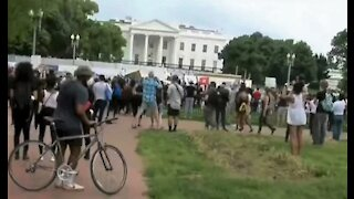 White House briefly locked down after protesters mobbed front