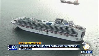 Couple misses cruise over coronavirus concerns