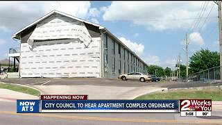 City council to hear apartment complex ordinance