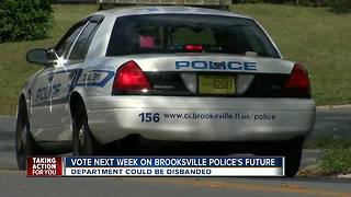 Brooksville Police Department could be disbanded - Video