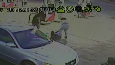 Gas station attack full video