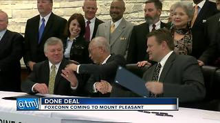 Foxconn, Racine County officials sign development agreement