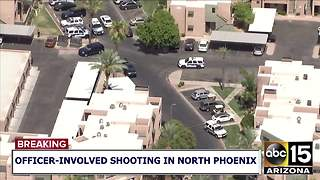 Suspect down following officer-involved shooting in north Phoenix