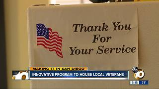 Making It in San Diego: Innovative program to house local veterans - Video
