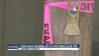 Spring Glade Fire: Crews make progress on 371-acre blaze burning in Larimer County - Video