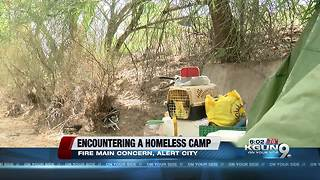 Homeless camp on east side concerns residents - Video