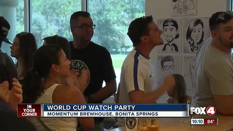 Local fans celebrate French World Cup Win in Bonita Springs