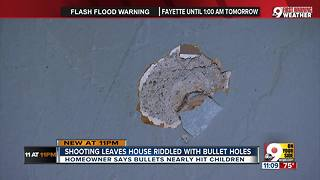 Homeowner says bullets nearly hit child