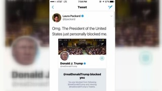 President Trump Twitter blocks Las Vegas woman with cancer