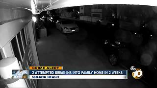 2 attempted break-ins into family home in 2 weeks - Video