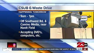 CSUB E-Waste Drive on Saturday, October 14, 2017 - Video