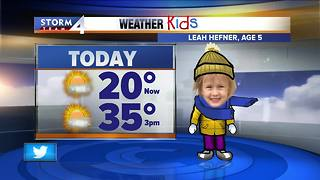 Weather Kid of the Day: Leah Hefner - Video