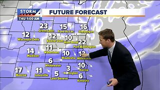 Snow arrives late Wednesday
