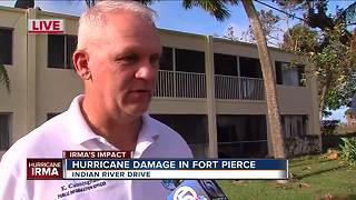 Fort Pierce police assess damage from Hurricane Irma - Video
