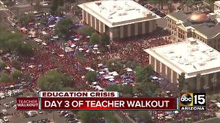 Top stories: Teacher walkout day 3; Tinder Fire - Video