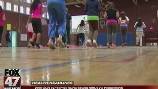 Kids who exercise show fewer signs of depression - Video