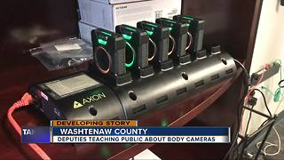 Deputies teaching public about body cameras in Washtenaw County - Video