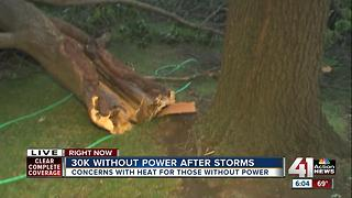 More than 30,000 people are without power after weekend storms - Video
