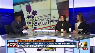 Cincinnati International Wine Festival donating to wildfire relief in California wine country - Video