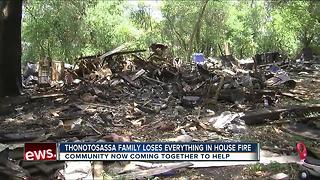 Thonotosassa family loses everything in house fire - Video