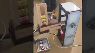 Students Create Handmade Can Crushing Machine - Video