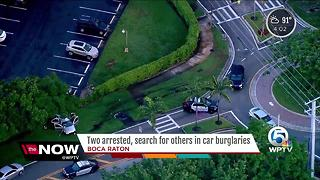 Two arrested, search for others in car burglaries in Boca Raton - Video