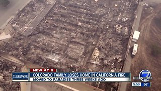 Colorado family loses everything in California wildfire just weeks after moving